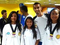 Bojaquenses logran oro y plata en open de las Américas de taekwondo