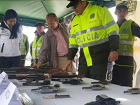 Bosa un ejemplo  en materia de desarme