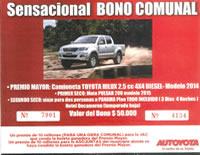 Incentivo a JAC y Asojuntas que vendan boletas para rifa de camioneta Hilux y Moto Pulsar