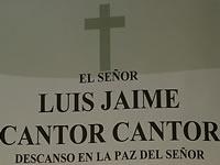 Exequias del señor Luis Jaime Cantor serán hoy a las 3:00 p.m.