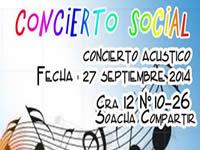 Concierto social y artístico por los niños  y  jóvenes de la Comuna Uno