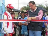Comunidad de Tibanica y León XIII ya cuenta con nuevas canchas deportivas