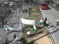 Con gases lacrimógenos  dispersaron  manifestantes de Transmilenio Soacha