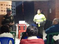 Policía apoya trabajo comunitario de Soacha