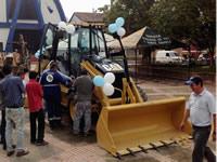 Villeta recibió  maquinaria para obras viales