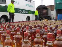 Policía de Cundinamarca incauta en Mosquera licor adulterado