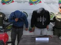 En Cazuca capturan dos sujetos con arma ilegal
