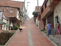 Comuna cuatro de Soacha  recibe más vías adoquinadas