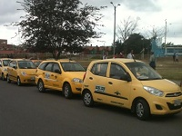 Taxistas de Soacha en cese de actividades