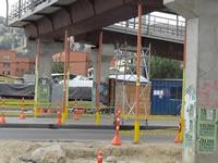 Comienzan pruebas de resistencia en  puente peatonal de la Estación  de Integración San Mateo