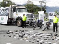 Volqueta robada en Soacha es recuperada en Quindío