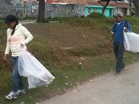 Policía y JAC de Soacha trabajan con habitantes de calle
