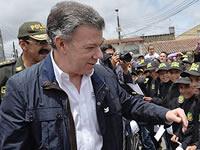 """La """"pálida"""" visita del presidente  Santos a Soacha"""