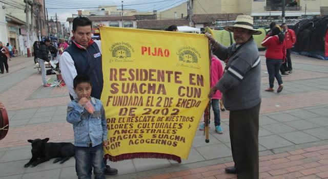 Muiscas y Pijaos realizaron   marcha en busca de la protección del bosque de San Mateo