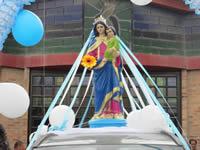 Habitantes del barrio Olivos III celebraron el Día de la Virgen del Carmen