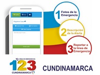 Cundinamarqueses podrán reportar emergencias a través de 123 Cundinamarca