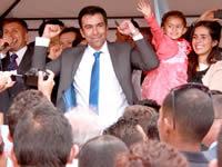 Multitudinaria compañía a Jorge Rey en su inscripción como candidato a la Gobernación