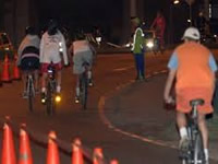 Hoy, noche de ciclovía nocturna en Bogotá