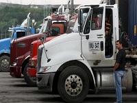 Intento de bloqueos por paro camionero en Zipaquirá