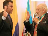 Los actos protagonizados por Rey en los 203 años de independencia de Cundinamarca