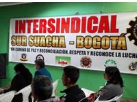 Así es la unidad sindical de Suacha