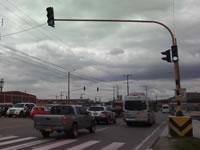 Dilatado  arreglo de semáforos de la autopista sur