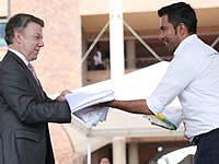 Comunales de Cundinamarca se posesionaron ante el presidente Santos