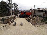 Se refuerza paso provisional en 'Puente Micos'