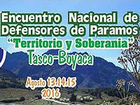 Soacha presente en el III encuentro nacional de defensores de los páramos