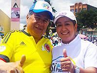 La E.S.E. de Soacha se unió a la marcha por una Colombia en paz