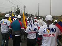 Los caminantes por la paz llegaron a Soacha