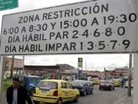 Se restablecería pico y placa en el sur y centro de Bogotá