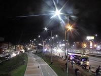 Autopista Sur de Soacha estrena luminarias LED y postes metálicos