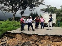 Deslizamientos de tierras en áreas inestables del departamento