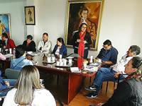 Funcionarios de Desarrollo Social se reúnen con alcalde González