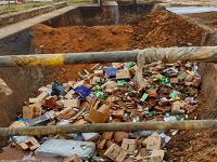 Destruídas más de 142 toneladas de licores y cigarrillos incautados