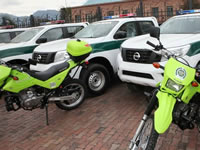 Patrullas y motos para la seguridad de Cundinamarca