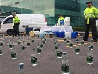 Policía incauta licor adulterado en Soacha