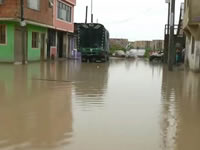 Inundaciones y deslizamientos en Soacha por fuertes lluvias