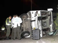 Mueren cinco personas en accidente de bus en Cundinamarca