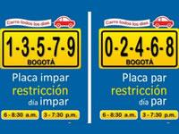 El pico y placa regresa este martes a Bogotá