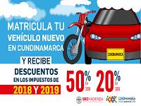 Beneficios tributarios por matricular vehículos en Cundinamarca