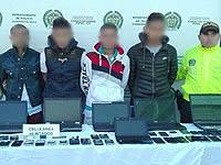 'Los Android' vendían celulares robados en Soacha y diferentes municipios de Cundinamarca