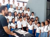 Coro infantil de La Mesa realizó homenaje a Elkin Ramírez