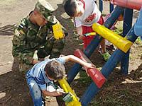 Policía Militar No. 13 trabaja por el bienestar de los niños de Soacha