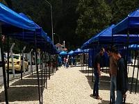 Reubicación de vendedores ambulantes del acceso a Monserrate