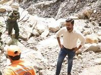 Gobernador  Rey  lidera reubicación de damnificados en Gachetá