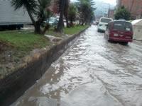 San Mateo inundado en temporada de lluvias
