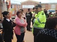Policía de Soacha patrulla  con la  comunidad