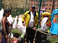 Exitosa jornada de embellecimiento del barrio Panorama
